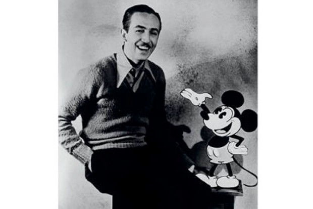 "The ""brilliant"" Walt Disney with Mickey Mouse in 1935. (Getty Images)"