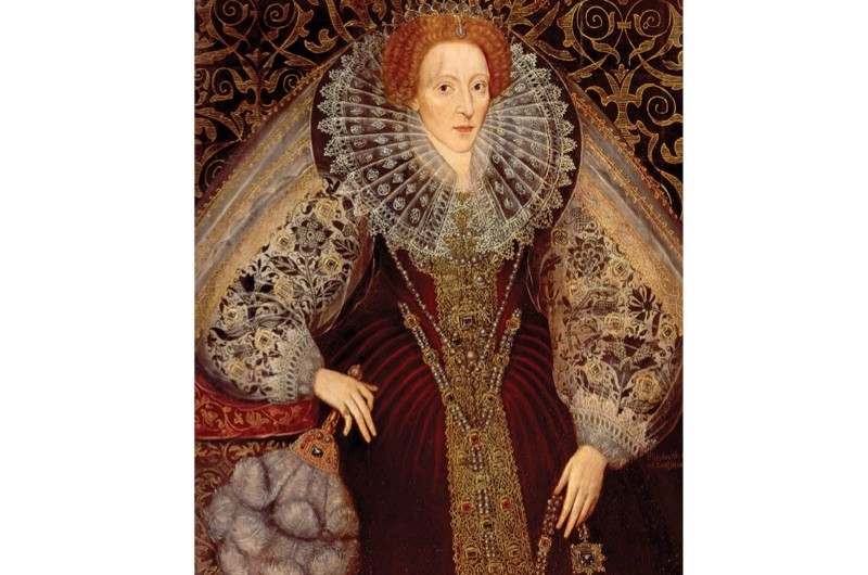 Elizabeth I shown in a c1585-90 portrait. So potent was the queen's charisma that she could, it was said, cure her diseased subjects with the merest touch. (Getty)