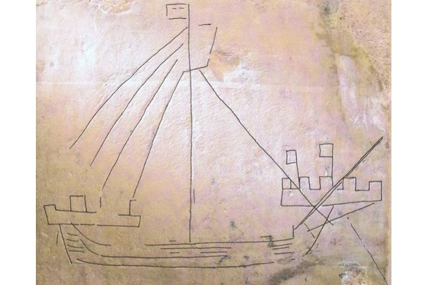 A typical late medieval example of ship graffiti