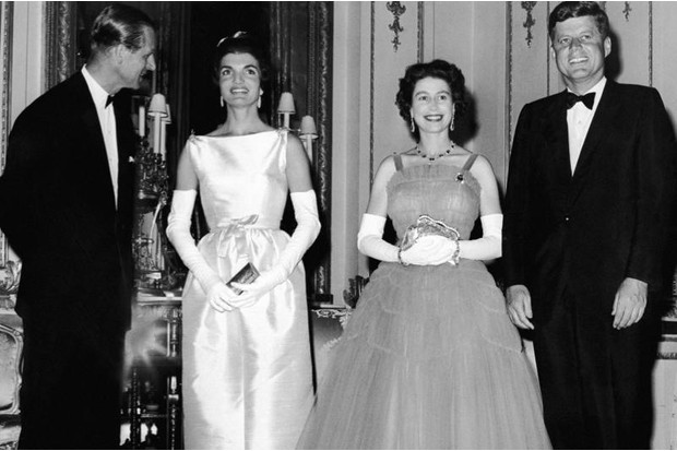 John and Jackie Kennedy, with Queen Elizabeth II and the Duke of Edinburgh.