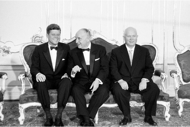 JFK with Soviet premier Nikita Khrushchev, June 1961