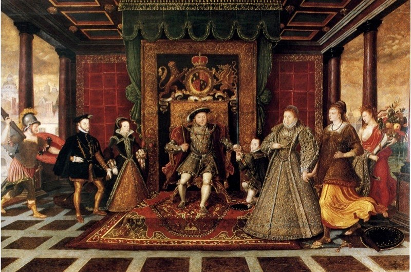 UNSPECIFIED - CIRCA 1754: De Here, The Family of Henry VIII, An Allegory of Tudor Succession c1572 (Photo by Universal History Archive/Getty Images)