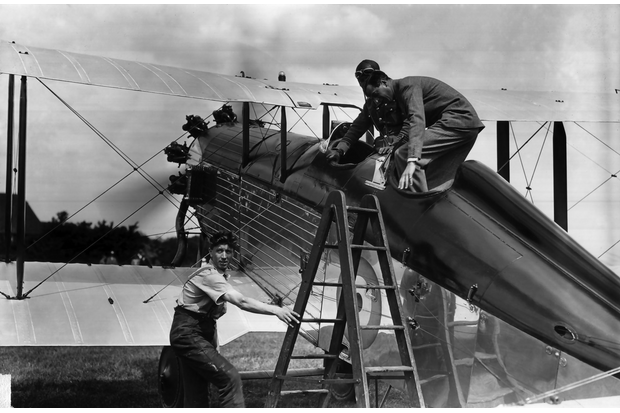 HRH the Prince of Wales seen climbing aboard an unidentified but beautifully polished Westland Wapiti 1A. Two specially equipped Westland Wapiti 1As were ordered and delivered to the Communications Flight of No. 24 Squadron at Northolt in June 1928 for VVIP flying. (Queen's Flight Archives image A041)