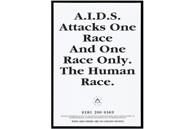 L0052035 AIDS as a disease which affects people of all ethnic Credit: Wellcome Library, London. Wellcome Images images@wellcome.ac.uk http://wellcomeimages.org AIDS as a disease which affects people of all ethnic origins; advertising the Jewish Aids Trust. Black and white lithograph. 19uu By: Jewish Aids Trust.Published: [19--]  Copyrighted work available under Creative Commons Attribution only licence CC BY 4.0 http://creativecommons.org/licenses/by/4.0/