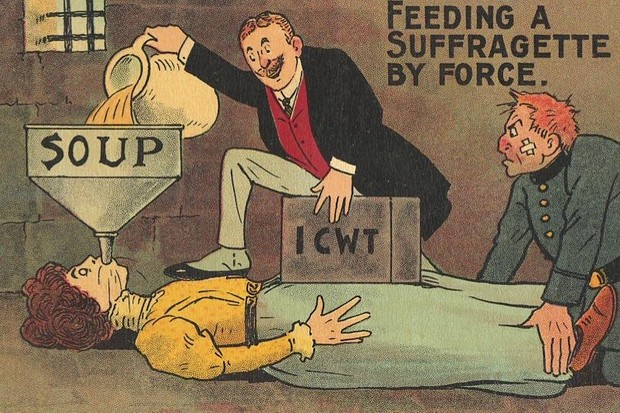 An example of an anti-Suffragette postcard from the early 20th century.
