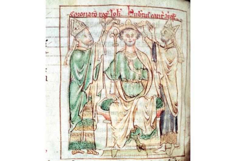 A 13th-century miniature of King John. (AKG)