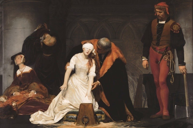 Lady Jane Grey's execution, as imagined by painter Paul Delaroche.