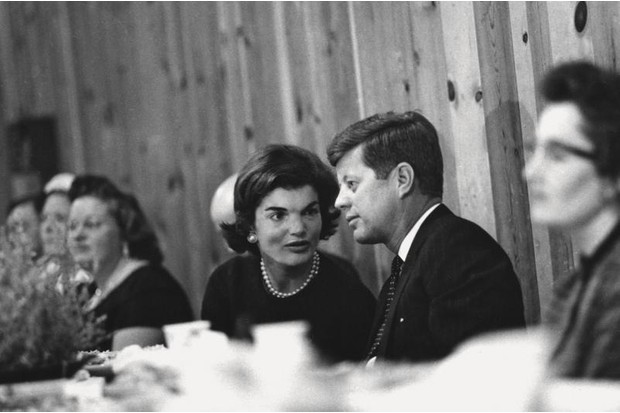 JFK and Jackie Kennedy at a fundraiser