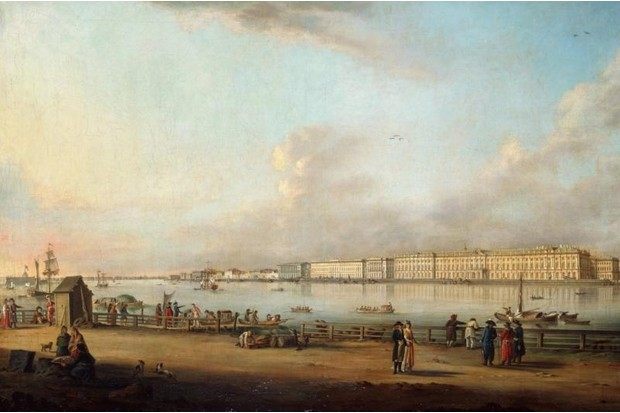 An 18th century view of St Petersburg, Russia