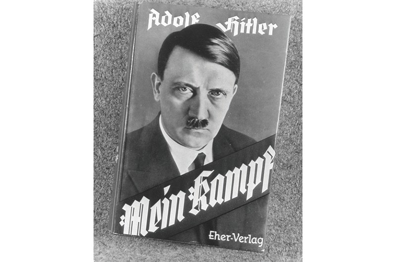 The front cover of a 1924 edition of Adolf Hitler's 'Mein Kampf'