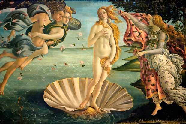 Painting of Venus by Botticelli