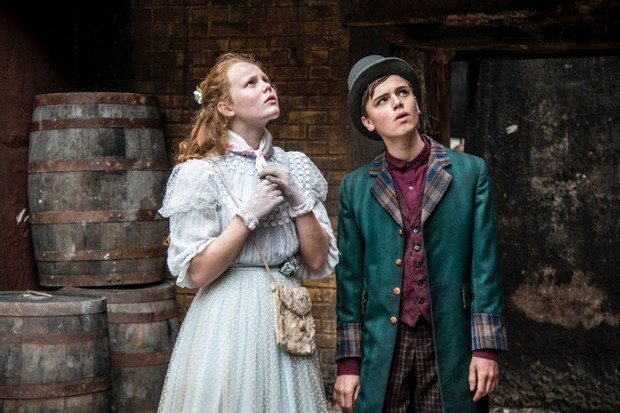 Programme Name: Ripper Street - TX: n/a - Episode: n/a (No. 4) - Picture Shows:  Mathilda (ANNA BURNETT), Harry Ward (DEAN-CHARLES CHAPMAN) - (C) Tiger Aspect 2014 - Photographer: Bernard Walsh