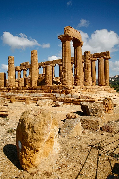 Juno Temple at the Valley of temples, Agrigento, Sicily.