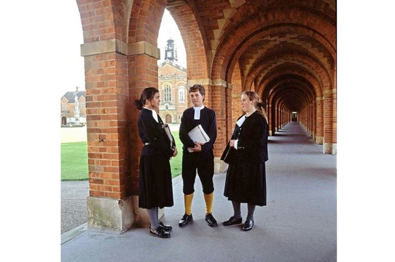 The uniform worn by pupils at Christ's Hospital School in Horsham. (Photo by Rex Features)