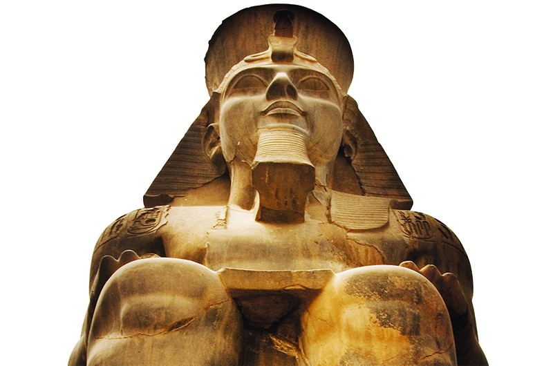 "One of the statues of Ramesses II at Luxor temple, which is ""a wonderful place to spend a few hours"". (Getty)"