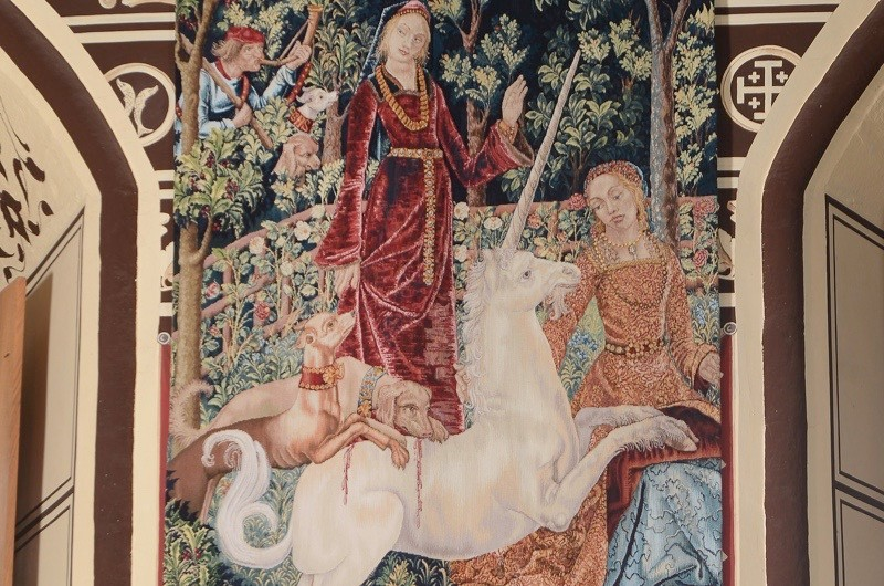 14 year project to recreate the lost tapestries of James V completed at Stirling CastleThe Mystic Hunt of the Unicorn Unveiled A 14 year project to recreate the lost tapestries of James V has been completed at Stirling Castle. The final tapestry in the series 'The Mystic Hunt of the Unicorn' woven by Master Weavers at West Dean Tapestry Studio was unveiled at Stirling Castle  today (Tuesday, 23rd June) marking the culmination of the biggest tapestry project undertaken in the UK in the last 100 years.The project was commissioned by Historic Scotland in 2001 as part of a wider project to restore the interiors of the palace of James V to how they may have looked in the 1540s, when it was home to James' wife Mary of Guise and their young daughter, Mary, Queen of Scots.   Neil Hanna Photographywww.neilhannaphotography.co.uk07702 246823