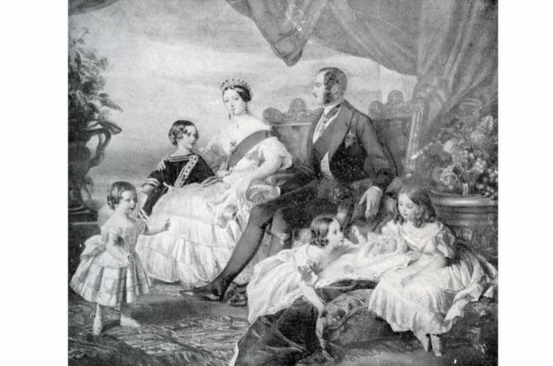 "Queen Victoria with Prince Albert and their children in 1846. After a painting by F Winterhalter. Victoria's husband, Albert, ""carved out for the crown a moral kind of authority as the nation's first and model family,"" says Sarah Gristwood. (Photo by Culture Club/Getty Images)"