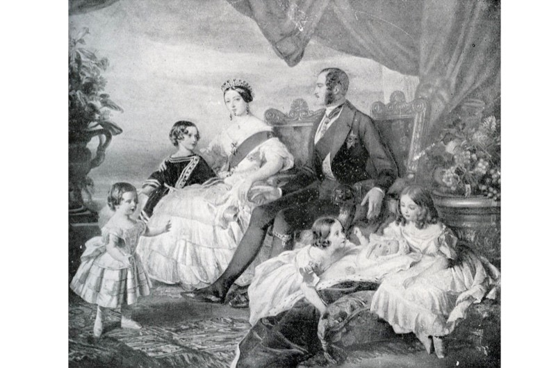 "Queen Victoria with Prince Albert and their children in 1846. After a painting by F Winterhalter. Victoria's husband Albert ""carved out for the crown a moral kind of authority as the nation's first and model family,"" says Sarah Gristwood. (Photo by Culture Club/Getty Images)"