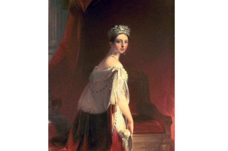 Thomas Sully's portrait of Queen Victoria in 1838, the year after she ascended the throne. (Photo by Bridgeman Art Library)