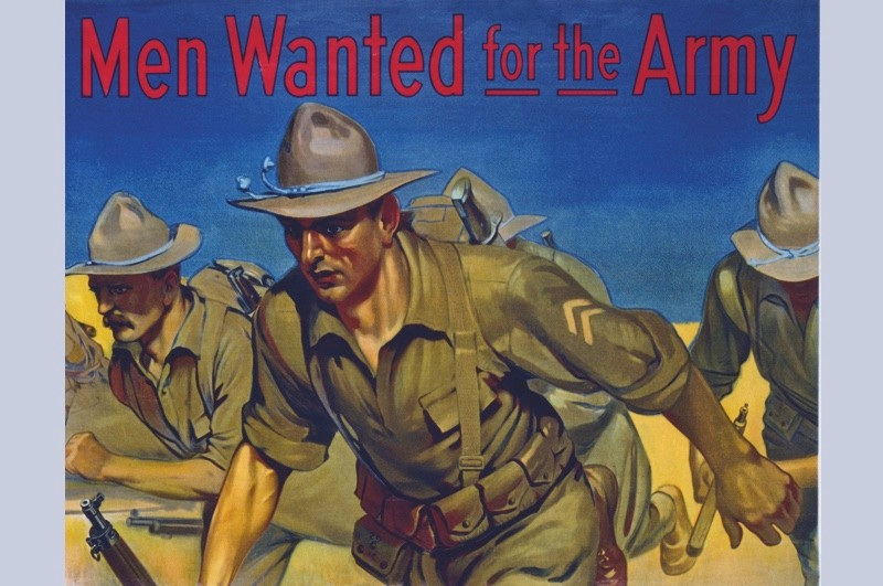 """An American recruitment poster. """"US forces showed an impressive ability to learn at speed,"""" says Nick Lloyd. (© Getty)"""