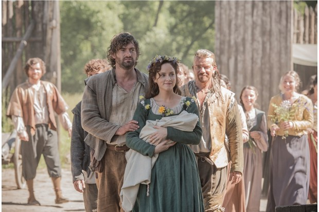 Motherhood is her next big thing for Jamestown character Alice Sharrow, explains actress Sophie Rundle. (Kata Vermes / Carnival Film & Television Limited 2018 © Sky UK Limited)