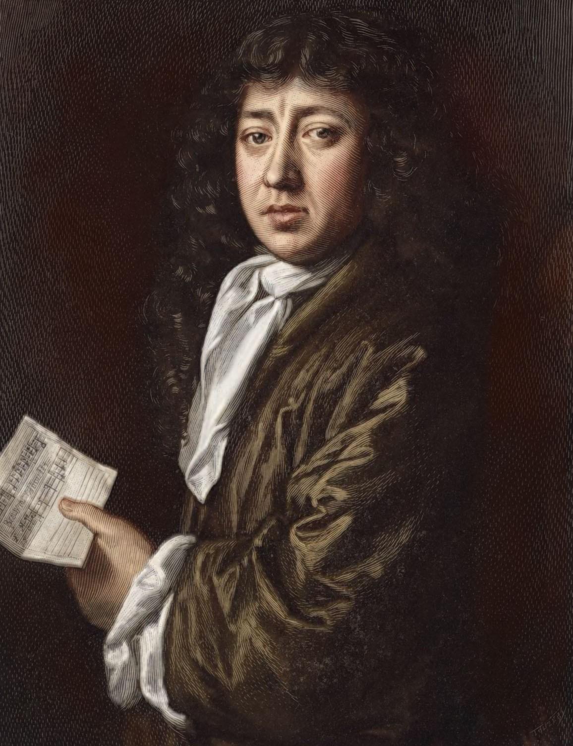 A portrait of Samuel Pepys
