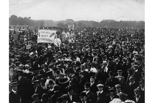 A protest for women's suffrage