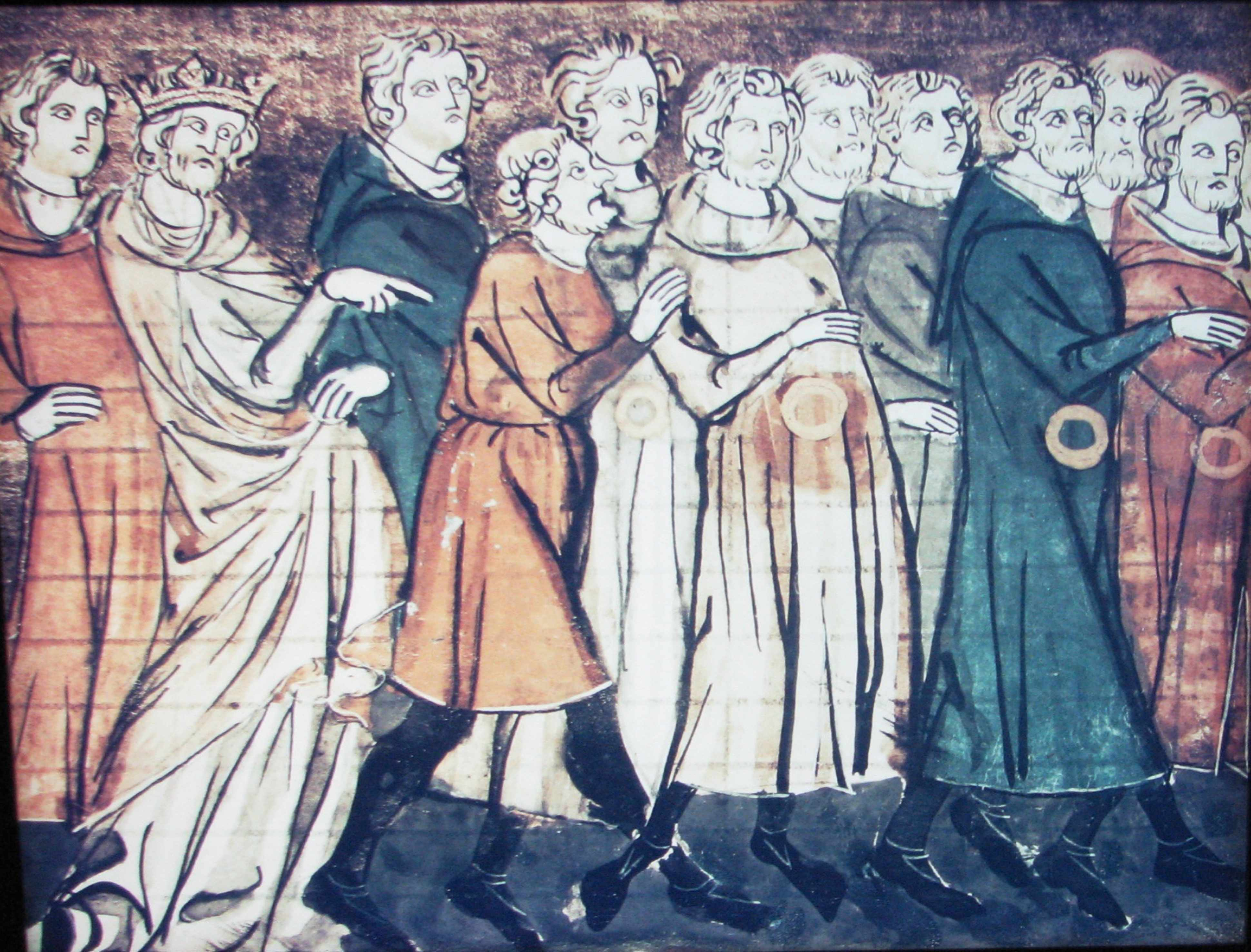 The expulsion of Jews from France in 1182. Found in the collection of the Bibliothèque Nationale de France. (Photo by Fine Art Images/Heritage Images/Getty Images)