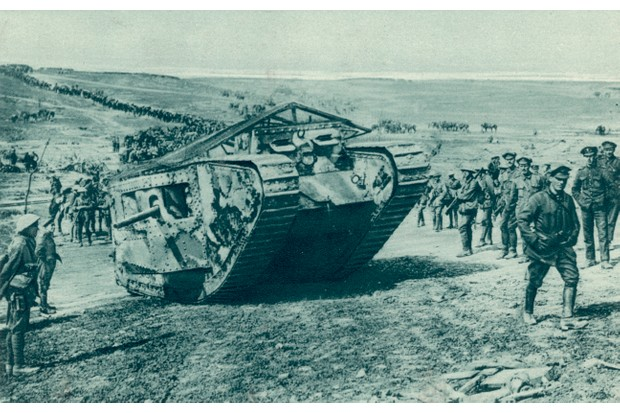 British Mark IV tank during the First World War