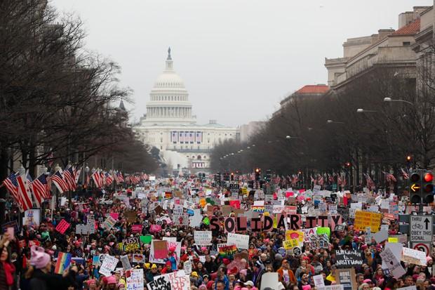 Women's march in Washington 2017