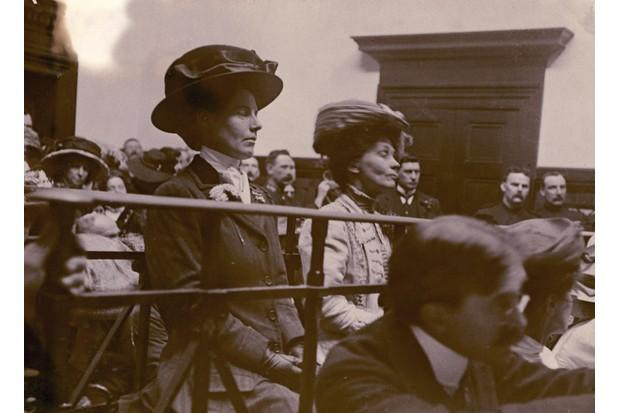 Evelina Haverfield and Emmeline Pankhurst