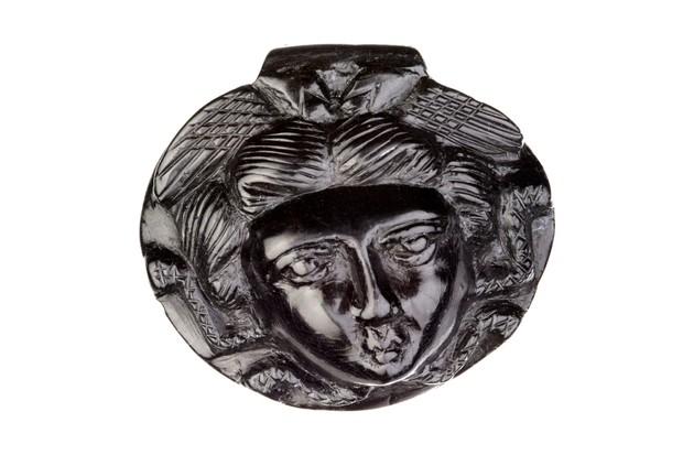 Roman jet Medusa pendant