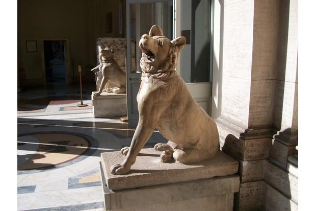 Statues of Roman Molossian hounds