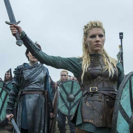 Lagertha, portrayed by Katheryn Winnick, in season 4 of Vikings. (Credit: Jonathan Hession/History)
