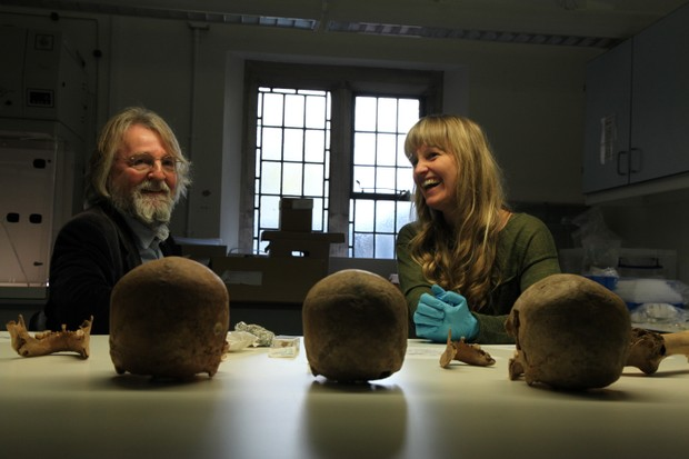 Michael Hirst considers Viking artefacts. New documentary The Real Vikings considers the real history that inspired the drama, including the roles of women in Viking society and the pagan beliefs and warrior culture. (The Real Vikings/History UK)