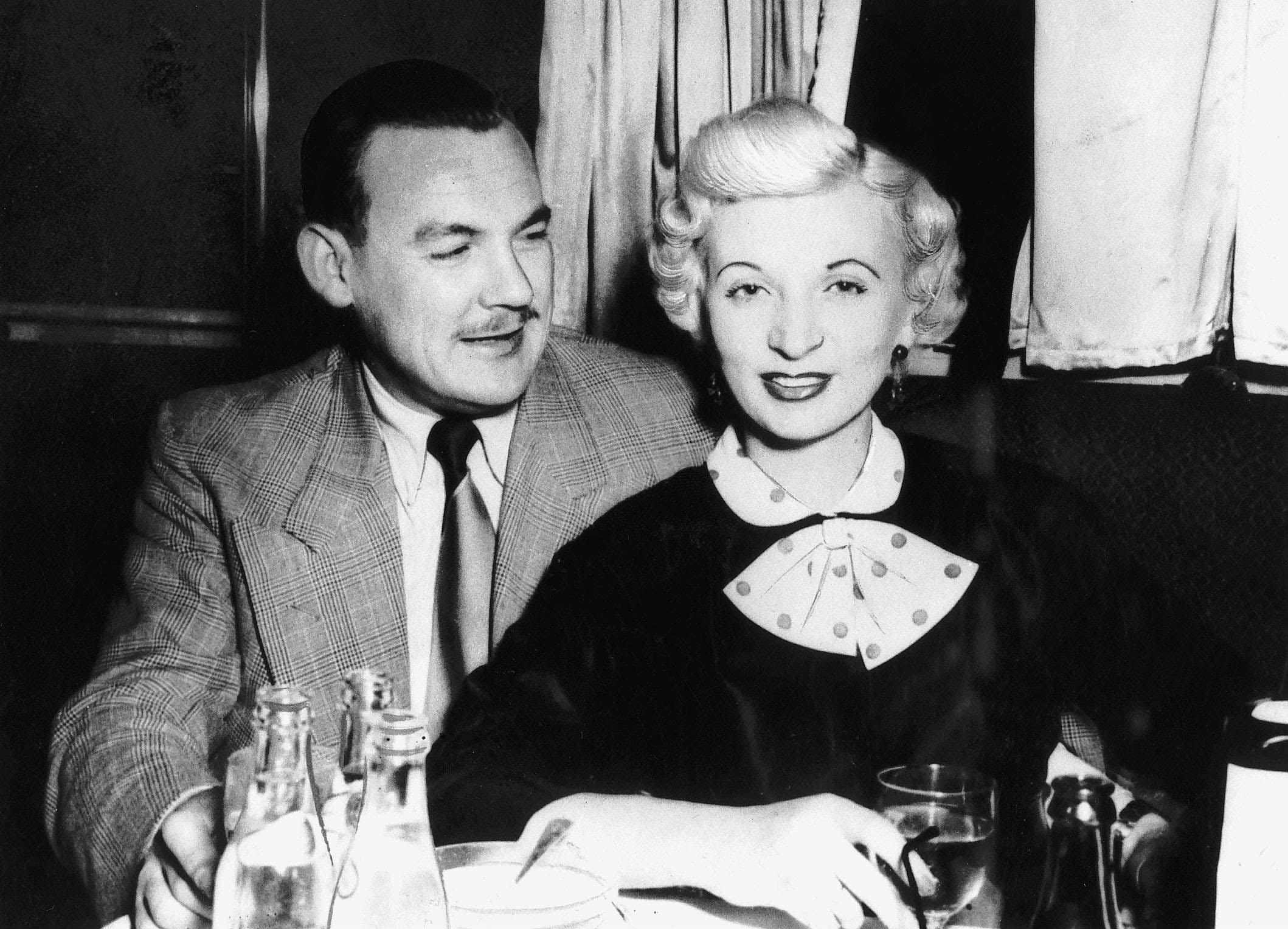 Ruth Ellis and her friend Desmond Cussen, who supplied the gun with which she shot David Blakely. (Photo by Trinity Mirror/Mirrorpix/Alamy Stock Photo)