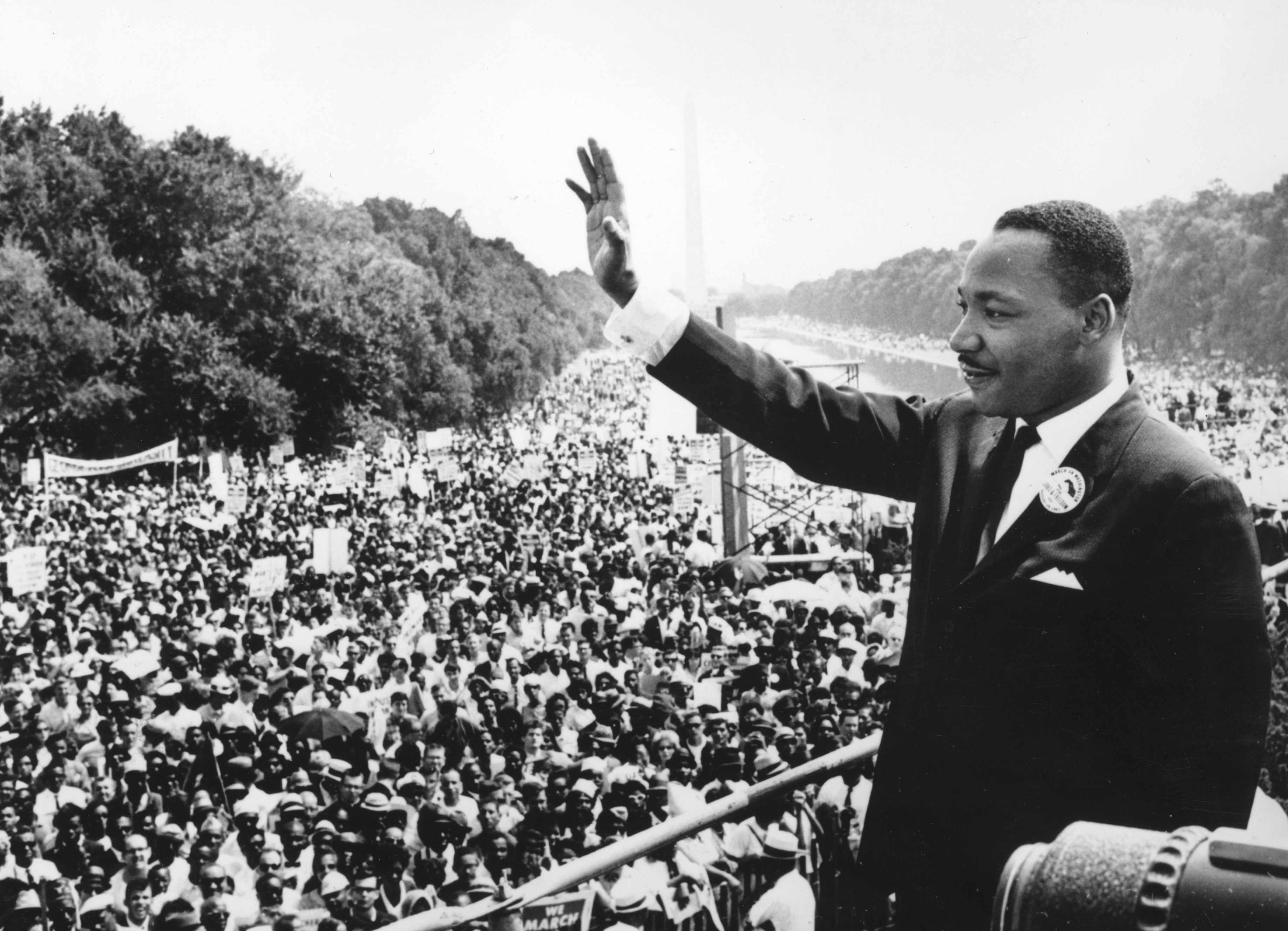 American civil rights leader Martin Luther King