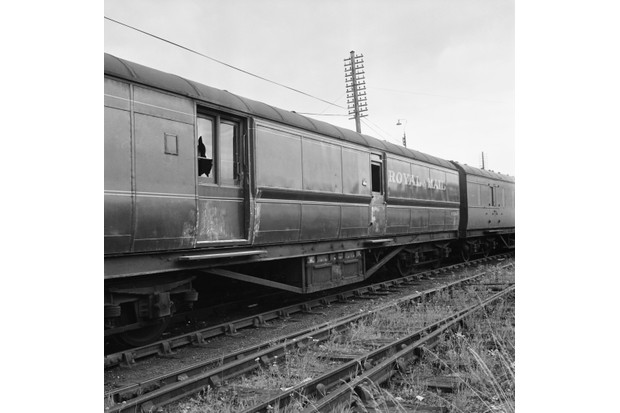 The crime scene following the Great Train Robbery of 1963. During the robbery, a Royal Mail train was held up and over 2.6 million pounds stolen. (Photo by B. Marshall/Express/Getty Images)