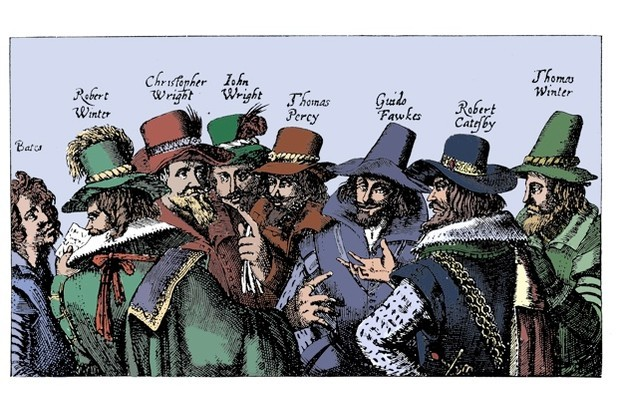 The gunpowder plotters of 1605. What might have happened had the conspiracy been successful? (Print Collector/Getty Images)