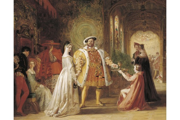 A 19th-century artist's depiction of the first meeting between Henry VIII and Anne Boleyn. (Photo by Fine Art Images/Heritage Images/Getty Images)