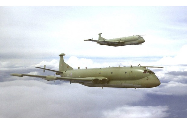 Two Nimrod R1s of 51 Squadron. (The RAF in 100 Objects/Crown Copyright 2004)