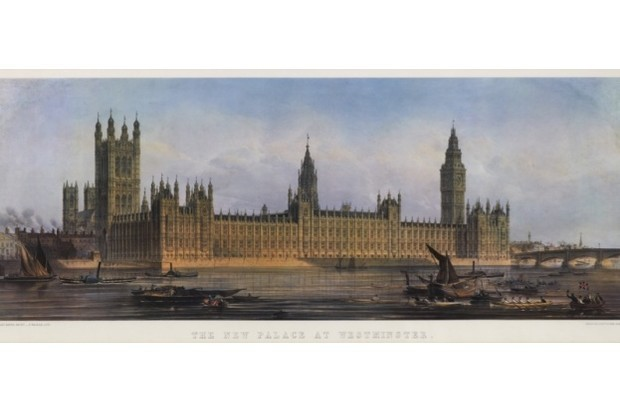 Westminster Palace, 1851, by E Walker (© Palace of Westminster Collection, WOA 742 www.parliament.uk/art)