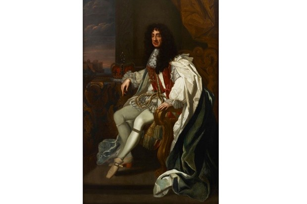 A portrait of Charles II wearing the robes of the Order of the Garter. (Photo by Fine Art Images/Heritage Images/Getty Images)