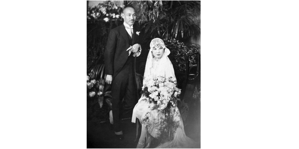 """Husband and wife Chiang Kai-shek and Soong Mei-ling (Madame Chiang), pictured at their wedding in 1928. The pair """"dominated Chinese politics for two decades [and] were among the most prominent non-westerners on the planet throughout the 1930s and 1940s"""", says Rana Mitter. (Photo by Granger Historical Picture Archive/Alamy Stock Photo)"""