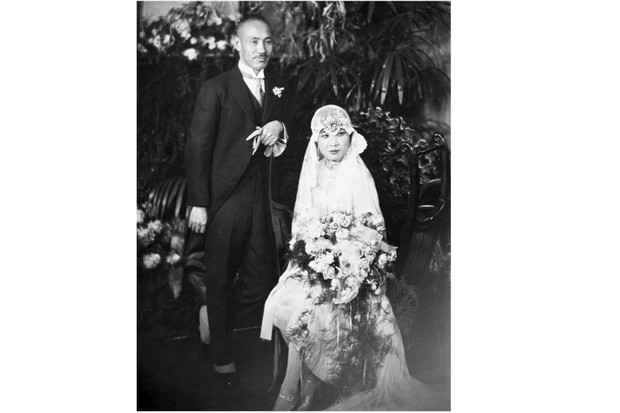 "Husband and wife Chiang Kai-shek and Soong Mei-ling (Madame Chiang), pictured at their wedding in 1928. The pair ""dominated Chinese politics for two decades [and] were among the most prominent non-westerners on the planet throughout the 1930s and 1940s"", says Rana Mitter. (Photo by Granger Historical Picture Archive/Alamy Stock Photo)"