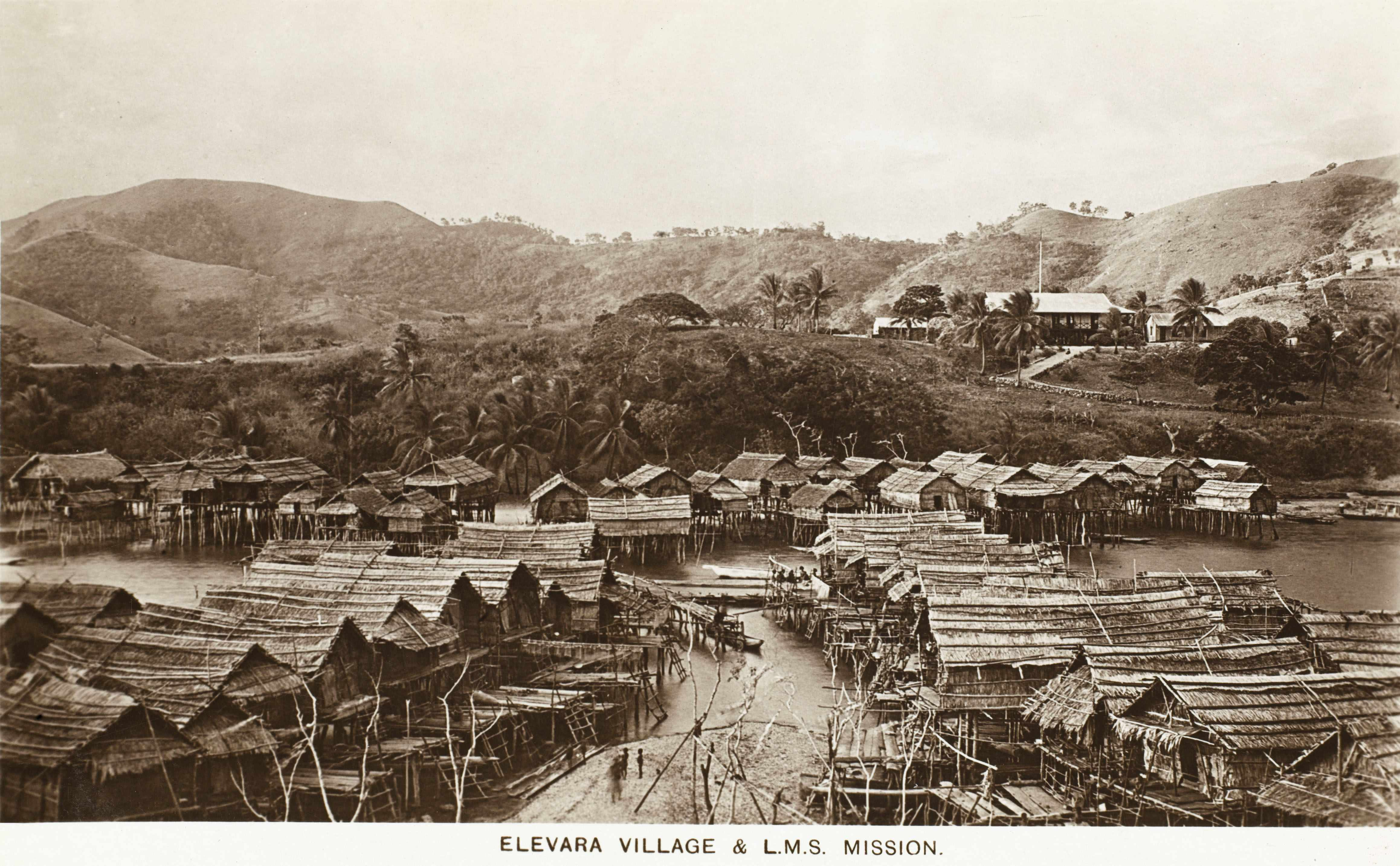 A London Missionary Society (LMS) mission in Papua New Guinea, c1920s. (Photo by Chronicle/Alamy Stock Photo)