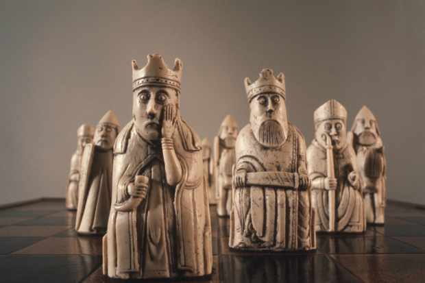 Lewis Chessmen found on the Isle of Lewis, Outer Hebrides, Scotland, probably made in Norway, about AD 1150-1200. (Photo by RDImages/Epics/Getty Images)