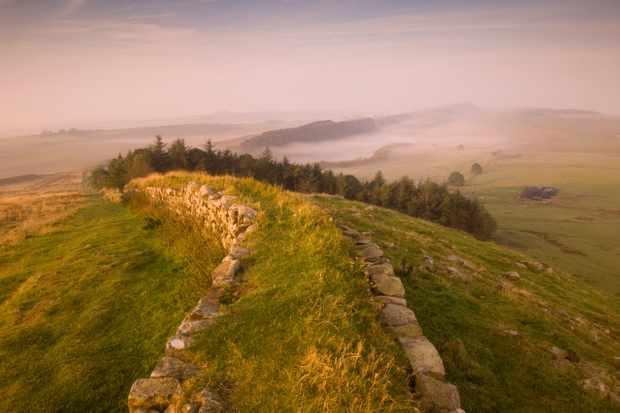 View towards Steel Rigg from Hadrian's Wall in Northumbria. (Photo by VisitBritain/Rod Edwards via Getty Images)