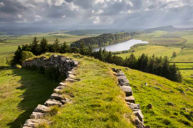 Hadrian's Wall photographed at Hotbank Crags and looking towards Crag Lough in Northumberland National Park. (Photo by Roger Coulam/Getty Images)