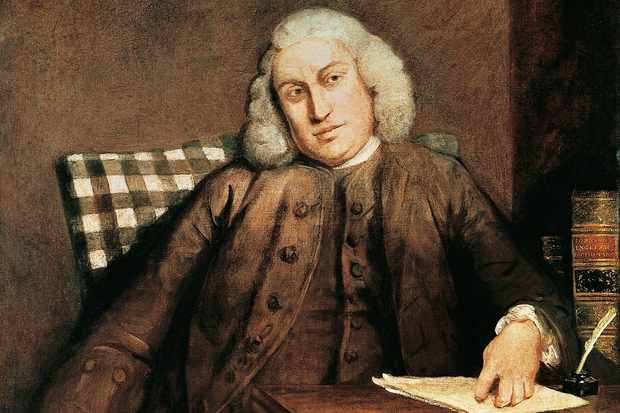 "A portrait of the great lexicographer Samuel Johnson. ""When we weren't quoting him, we took to speaking in a Johnsonian style, beginning with our sentences 'Sir'!"" says Frank Skinner. (DeAgostini/Getty Images)"